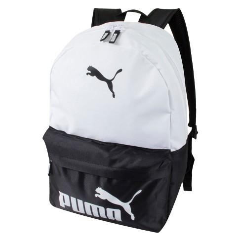 """Puma 18.5"""" Logo Backpack - Black/White - image 1 of 5"""