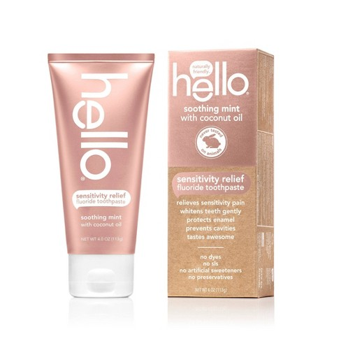 hello Sensitivity Relief Soothing Mint Fluoride Toothpaste , sls Free and Vegan , 4oz - image 1 of 4