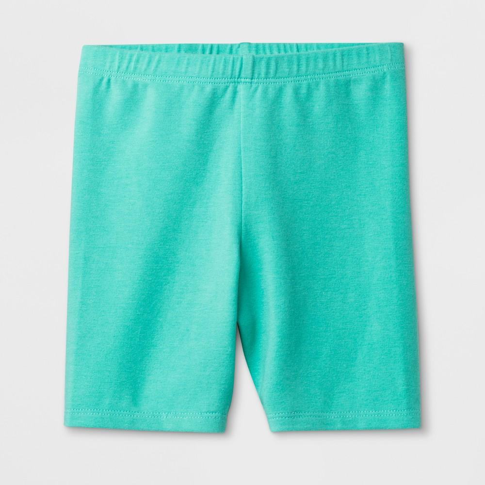 Toddler Girls' Biker Shorts - Cat & Jack Mint Green 3T