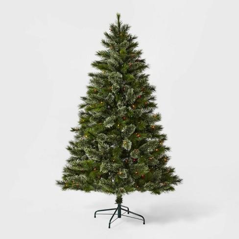 6ft Pre-lit Artificial Christmas Tree Virginia Pine Multicolored Lights - Wondershop™ - image 1 of 4