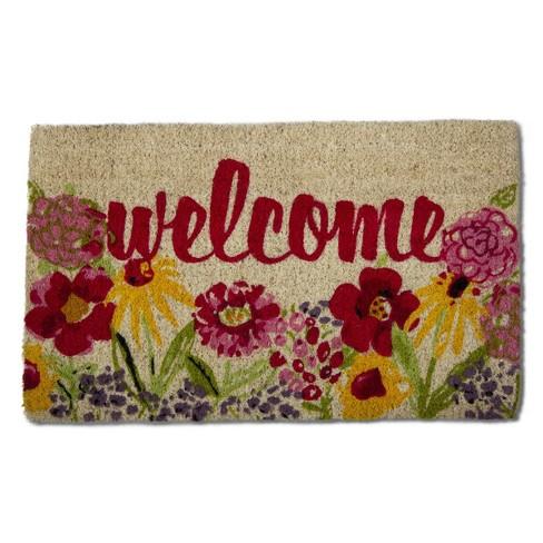 TAG Fresh Flowers Coir Doormat Indoor Outdoor Welcome Mat - image 1 of 3