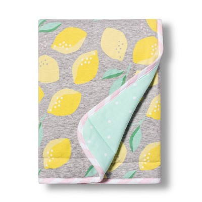 Jersey Knit Blanket Lemons - Cloud Island™ Gray/Yellow