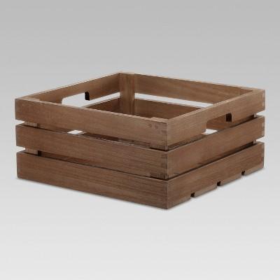 Cube Storage Basket Brown 13 x14 x6  - Threshold™
