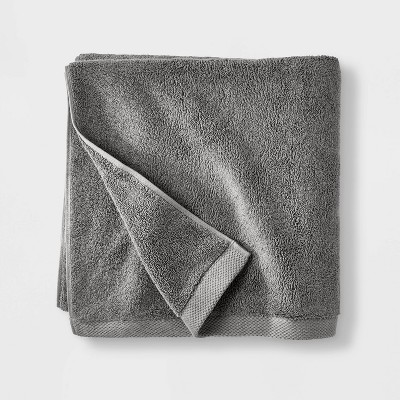 Organic Bath Sheet Dark Gray - Casaluna™