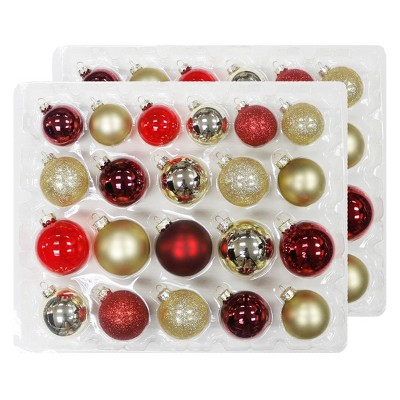 42ct Christmas Ornament Set Red/Gold - Wondershop™