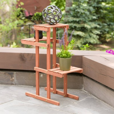 Rectangular 3 Tier Plant Stand - Brown - Leisure Season