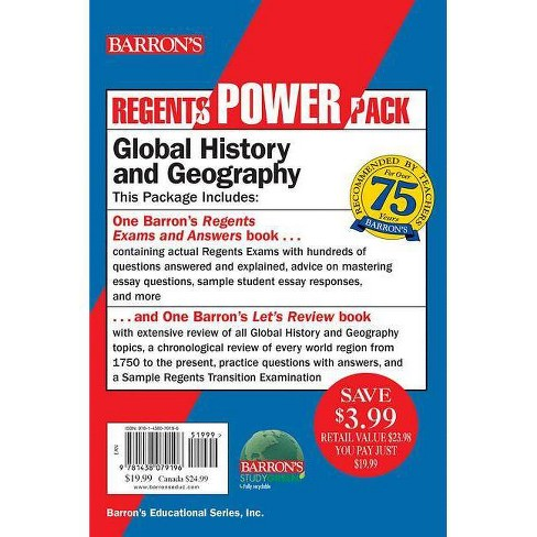 Regents Global History and Geography Power Pack - (Barron's Regents NY) 6  Edition (Paperback)