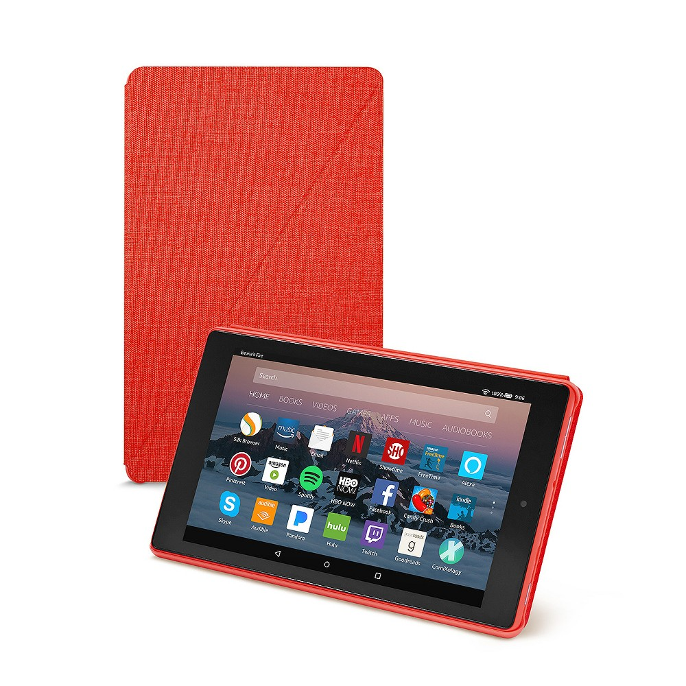 Amazon Fire HD 8 Tablet Case (7th Generation, 2017 Release) - Punch Red