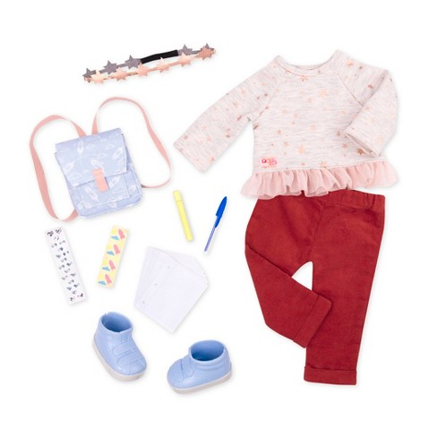 Shoes Pajamas Clothes for 18/'/' Our Generation American Dolls Jeans Outfits
