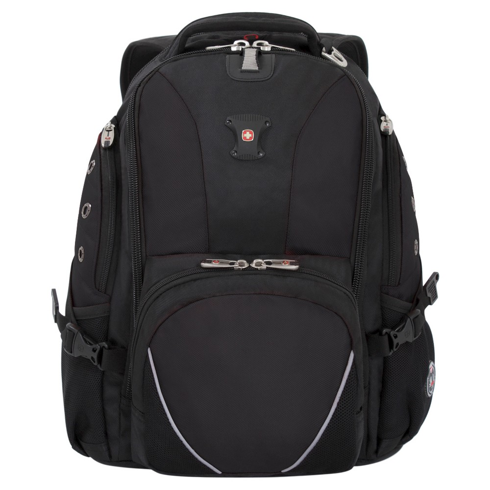 "Image of ""SWISSGEAR 15"""" Backpack - Black, Red Black"""