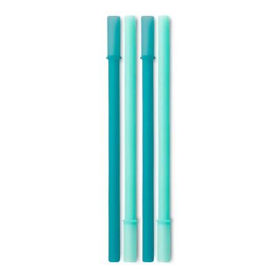 GoSili 4pk Silicone Kids' Reusable Straws
