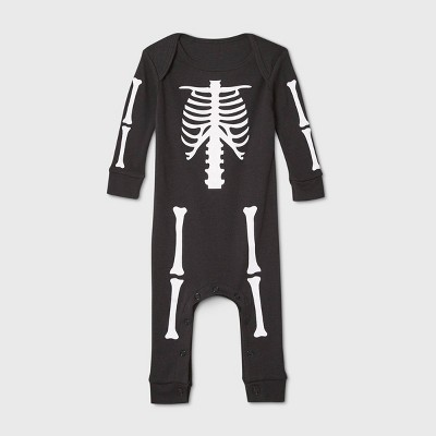 Baby Halloween Skeleton Matching Family Union Suit - Black 6-9M