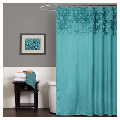 Lillian Shower Curtain Turquoise - Lush Décor