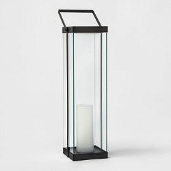 Modern Battery Operated Metal Glass Lantern - Project 62™