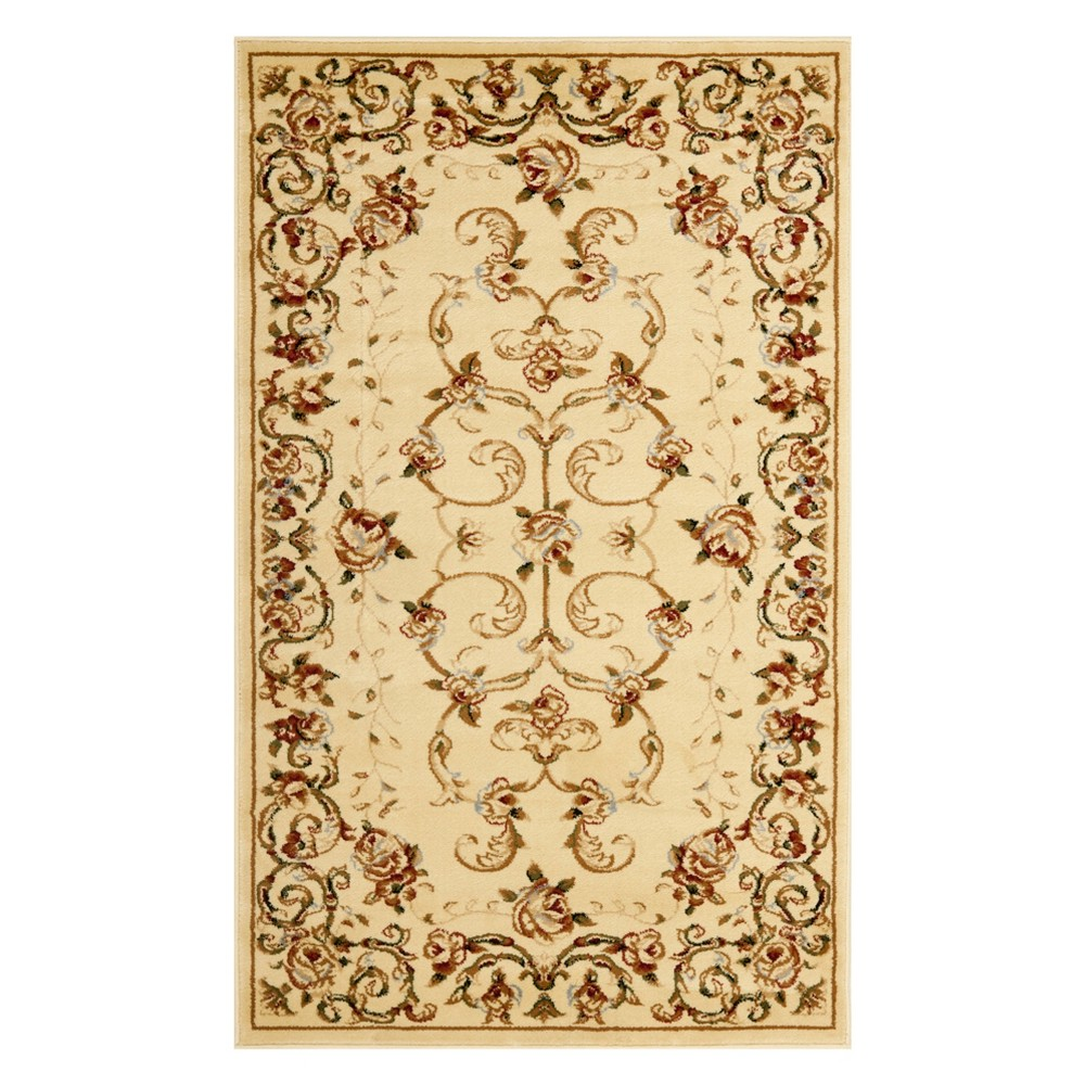 33X53 Floral Loomed Accent Rug Ivory - Safavieh Reviews