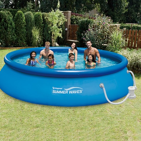 Summer Waves 15 Quick Set Inflatable Above Ground Pool Pump 12
