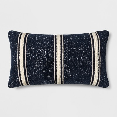 Woven Stripe Oversized Lumbar Throw Pillow Blue - Threshold™