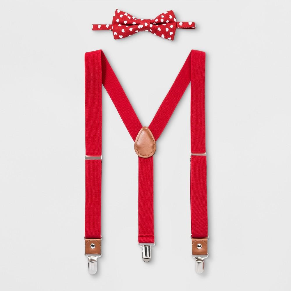Boys' Hearts Bowtie & Suspenders Set - Cat & Jack One Size, Multi-Colored