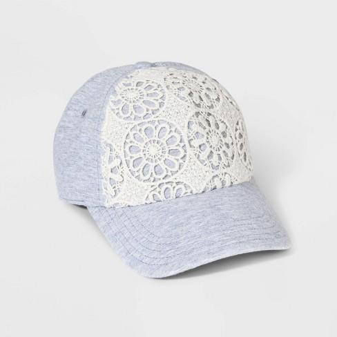 Girls' Crochet Baseball Hat - art class™ Grey - image 1 of 2
