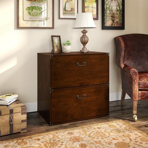 Bush Furniture 2 Drawer Kathy Ireland Office Ironworks File Cabinet In Coastal Cherry Target