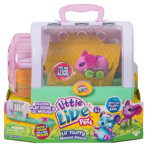 Little Live Pets™ Lil' Fluffy Mouse House - Flitter Mouse - image 1 of 8