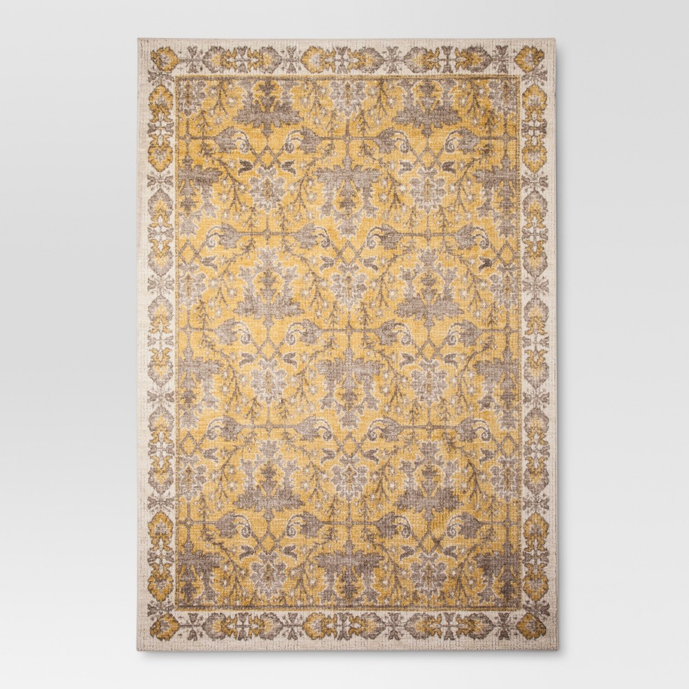 Yellow Ombre Design Tufted Area Rug 7'X10' - Threshold