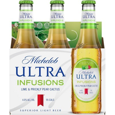 Michelob Ultra Infusions Lime & Prickly Pear Cactus Light Beer - 6pk/12 fl oz Bottles