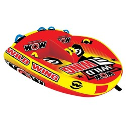 World of Watersports 18-1120 Wild Wing 2 Rider Inflatable Towable Tube, Red