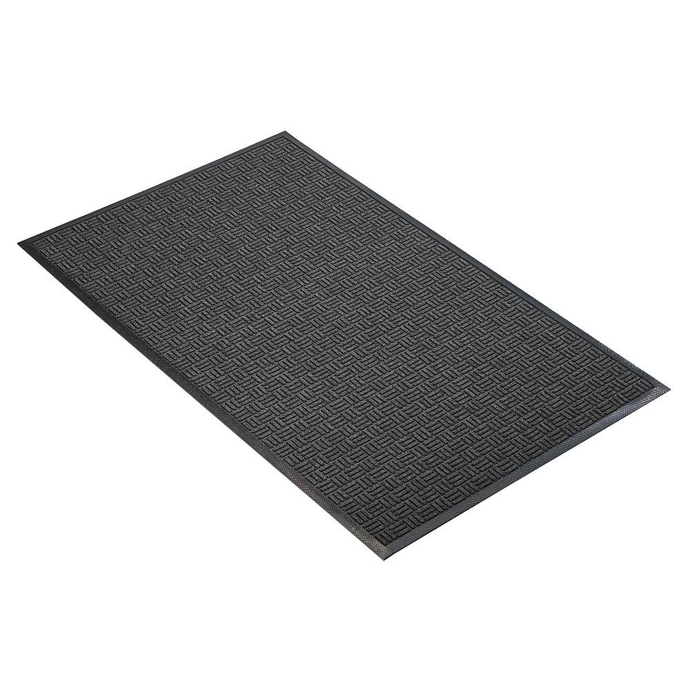 Image of Charcoal Solid Doormat - (2'X3') - HomeTrax, Grey