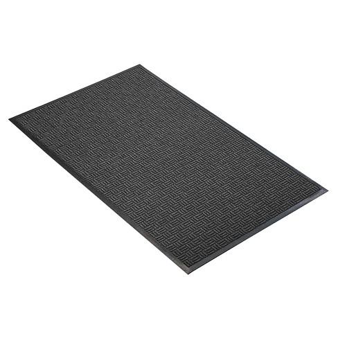 Charcoal Solid Doormat - (2'x3') - HomeTrax - image 1 of 4