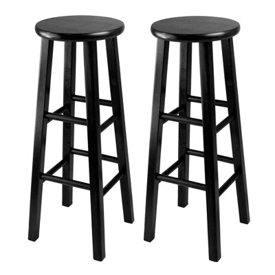"""2pc 29"""" Pacey Bar Stool Set Black - Winsome"""