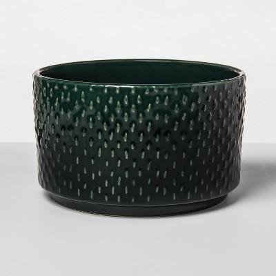 10  x 6.1  Stoneware Textured Planter Green - Opalhouse™