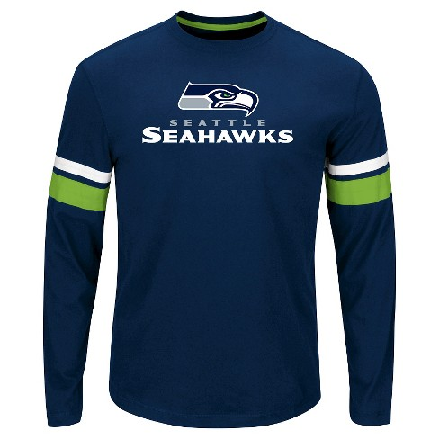 Seattle Seahawks Men's Long Sleeve Accent Stripes T-Shirt L - image 1 of 1
