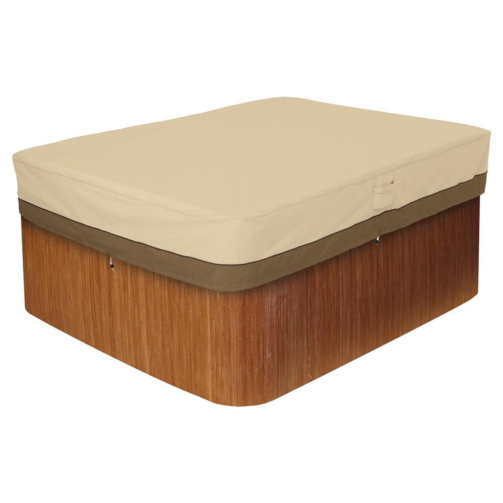 Image of Veranda Large Rectangular Hot Tub Cover - Light Pebble - Classic Accessories, Gray