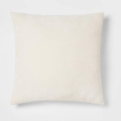 Oversized Chenille Square Throw Pillow Cream - Threshold™