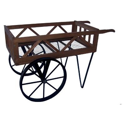 Flower Garden Wagon - Black