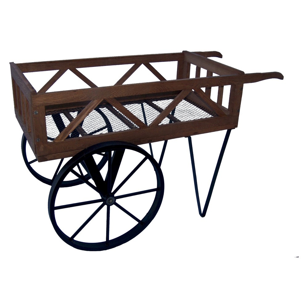 Image of Flower Garden Wagon - Black