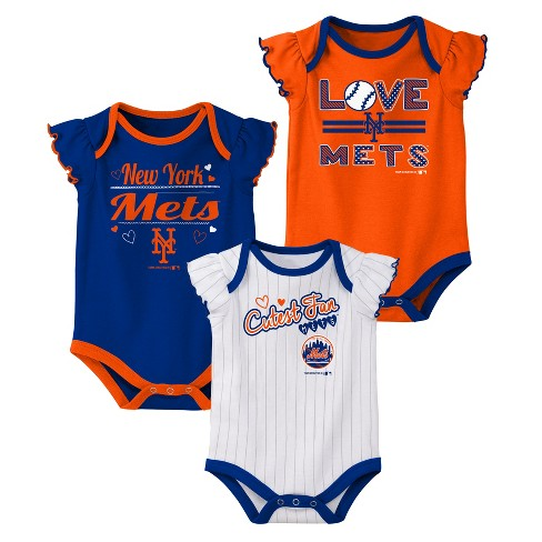 sale retailer 733f4 efd12 New York Mets Girls' Bodysuit 3pk - 0-3M