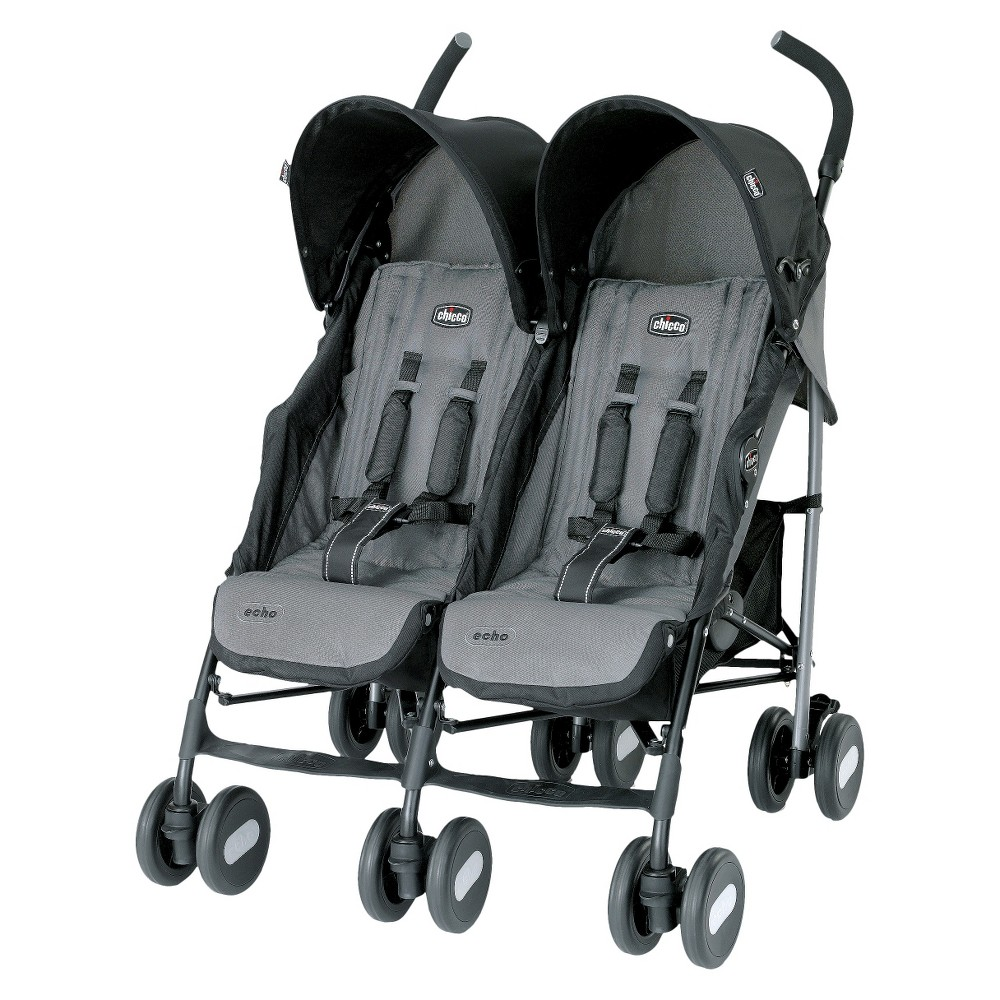 Chicco Echo Twin Stroller - Coal (Grey)