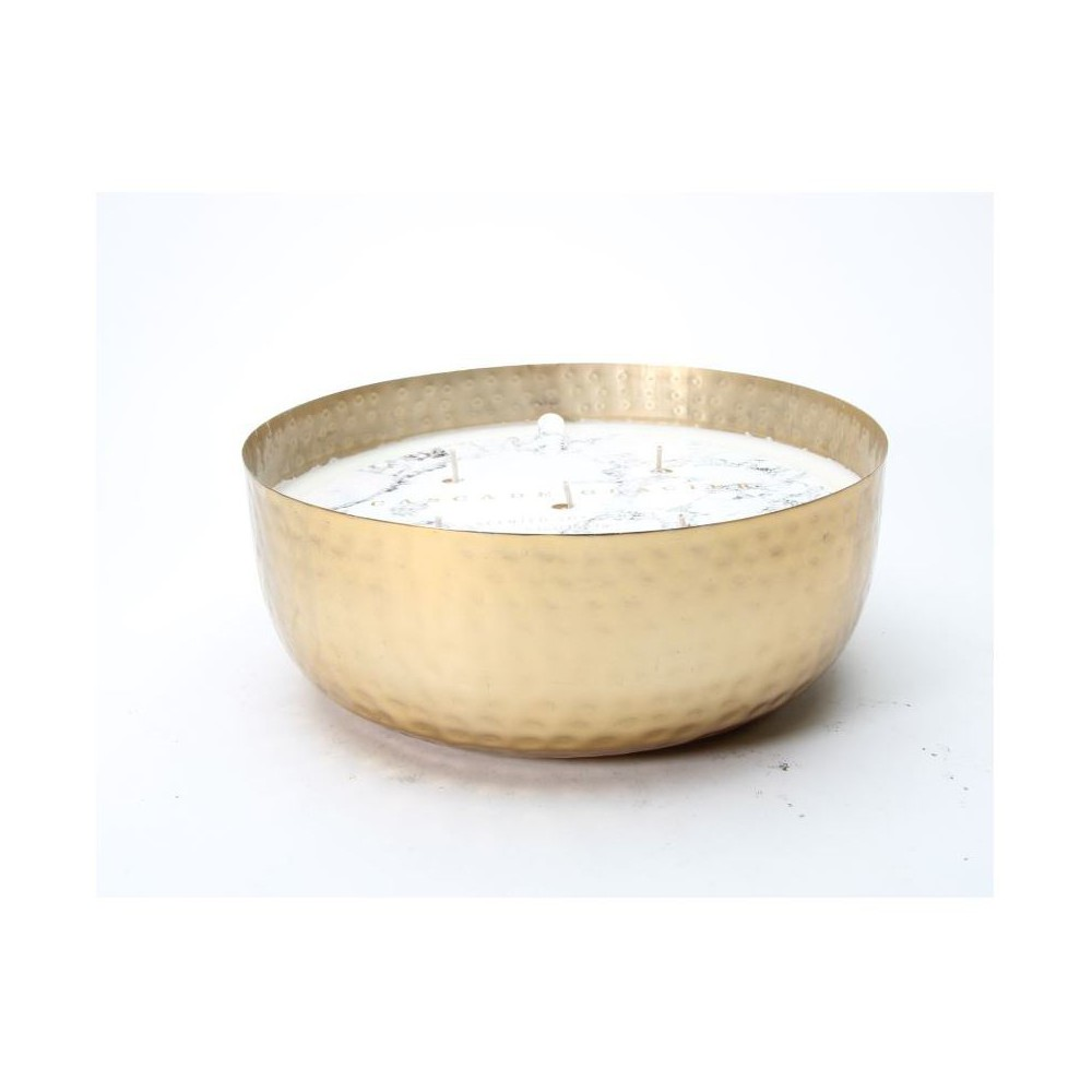 Hammered Bowl Candle Gold (53oz) - Cascade Glacier