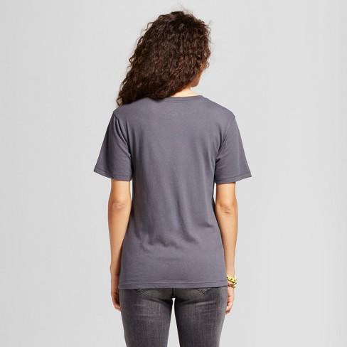 6fe4a51406bbb3 Women s Led Zeppelin® Boyfriend Fit Graphic T-Shirt Charcoal Gray  (Juniors )   Target