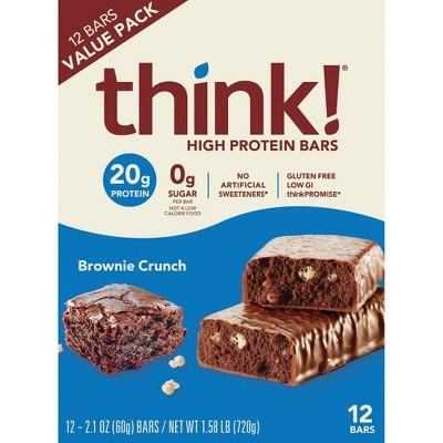 think! High Protein Brownie Crunch Bars - 12pk