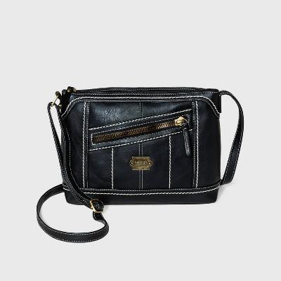 Concept Zip Closure Crossbody Bag
