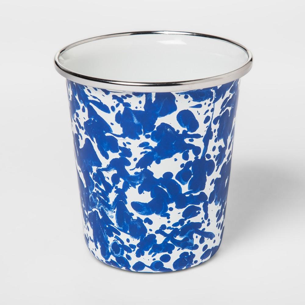 Stainless Steel Speckled Tumbler 16oz White/Blue - Threshold