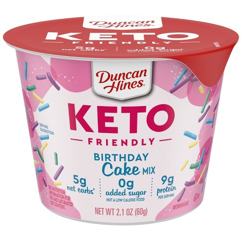 Duncan Hines Keto Friendly Birthday Cake Cup  -  2.1oz - image 1 of 1