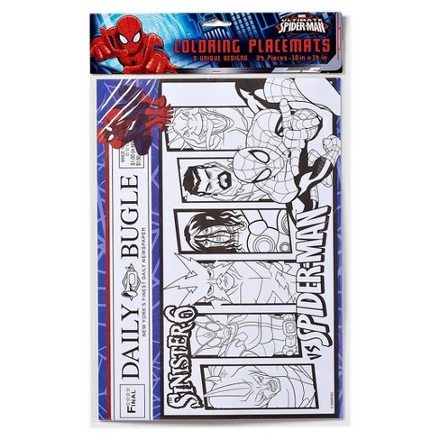 Spider-Man Disposable Coloring Placemats - 24ct - image 1 of 1
