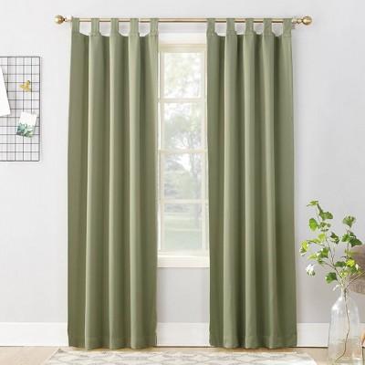 "95""x40"" Kenneth Energy Saving Blackout Tab Top Curtain Panel Sage Green - Sun Zero"