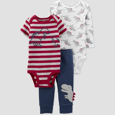 Baby Boys' Dino Striped Top & Bottom Set - Just One You® made by carter's 9M