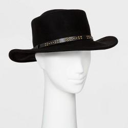 Women's Felt Boater Hat - Universal Thread™ Black