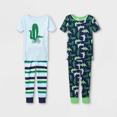 Toddler Boys' 4pc Alligator Pajama Set - Cat & Jack™ Green